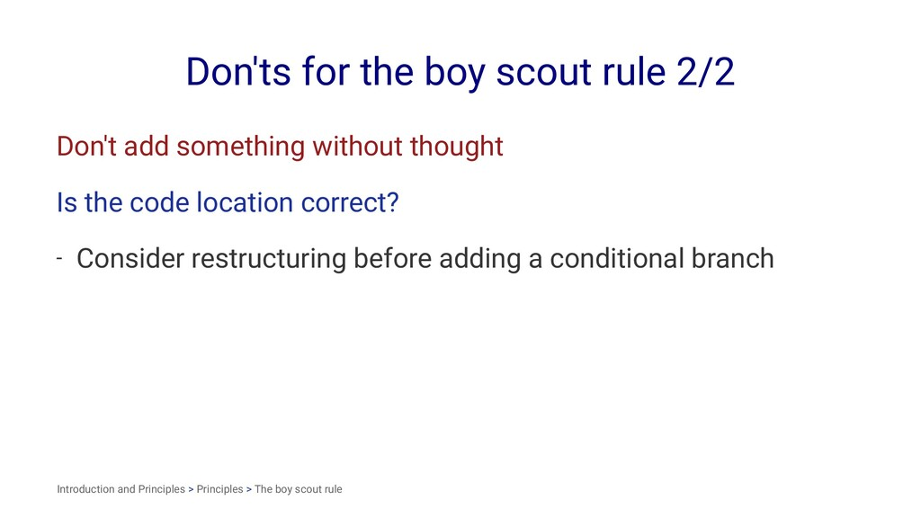 Don'ts for the boy scout rule 2/2 Don't add som...