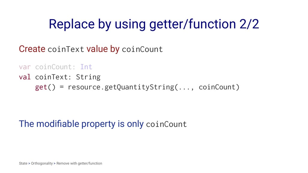 Replace by using getter/function 2/2 Create coi...