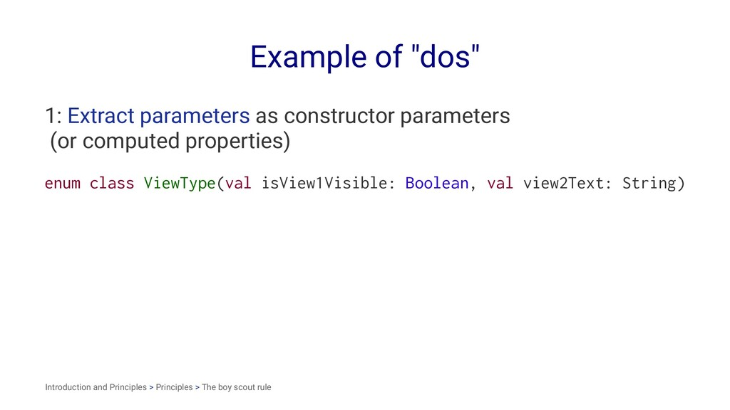 "Example of ""dos"" 1: Extract parameters as const..."