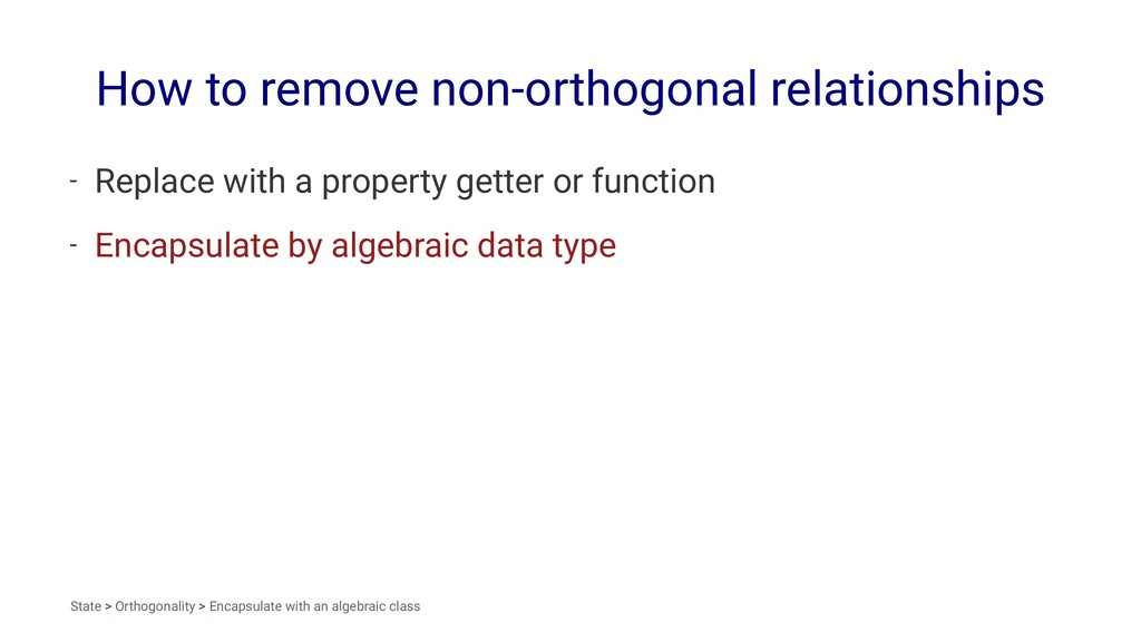 How to remove non-orthogonal relationships - Re...