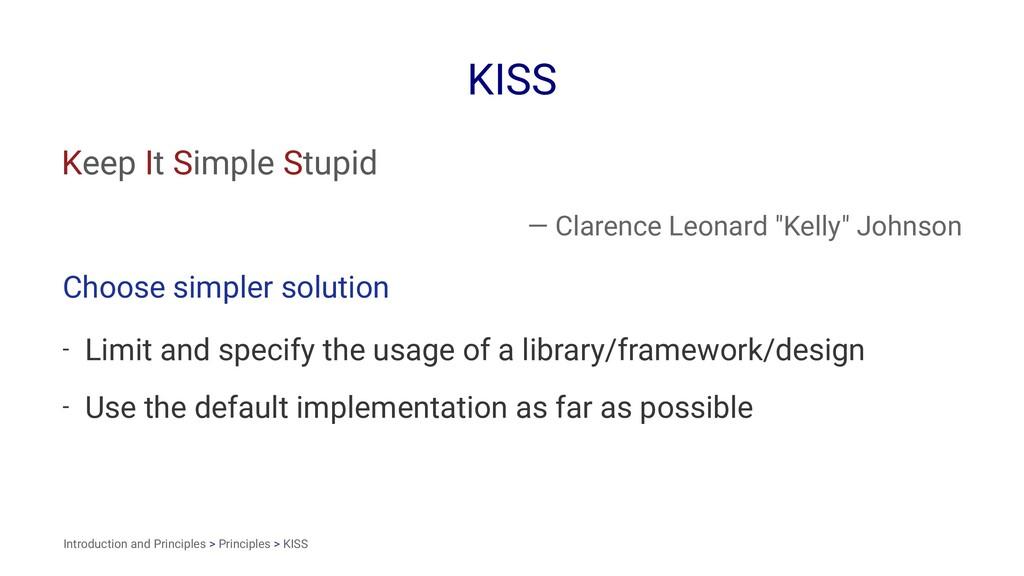 """KISS Keep It Simple Stupid — Clarence Leonard """"..."""