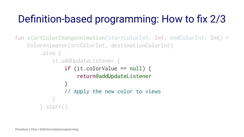 Definition-based programming: How to fix 2/3 fun ...