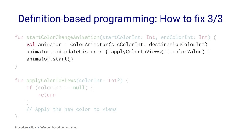 Definition-based programming: How to fix 3/3 fun ...