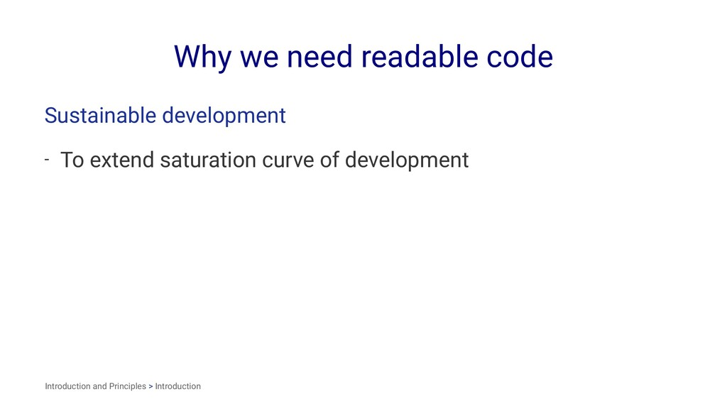 Why we need readable code Sustainable developme...