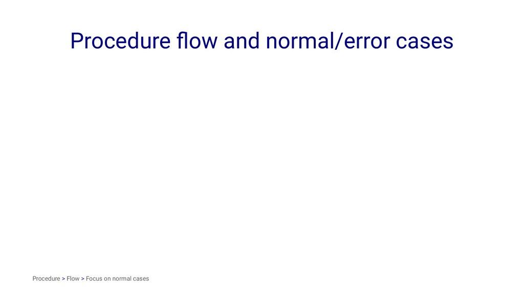 Procedure flow and normal/error cases Procedure ...