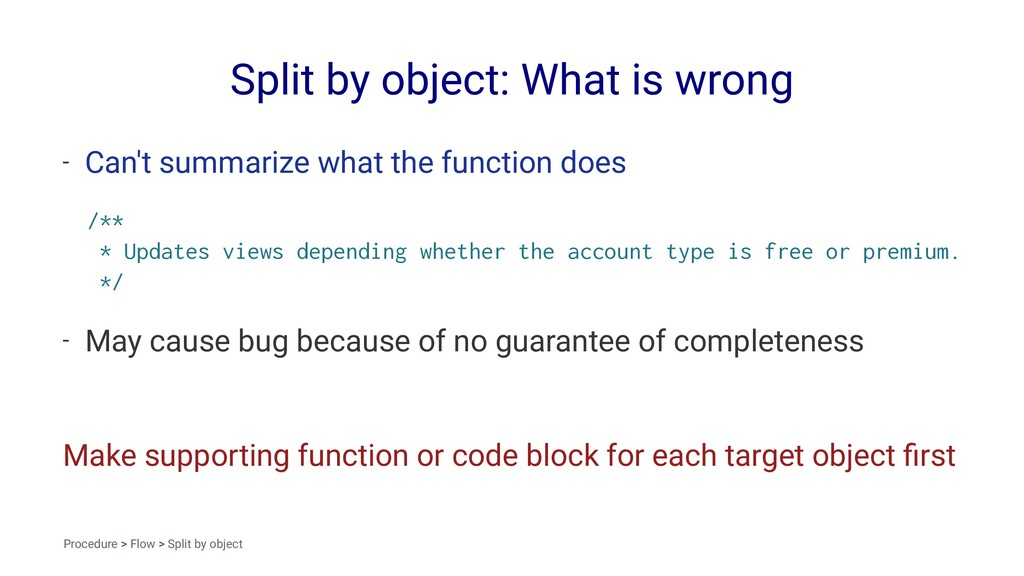 Split by object: What is wrong - Can't summariz...