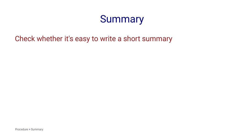 Summary Check whether it's easy to write a shor...