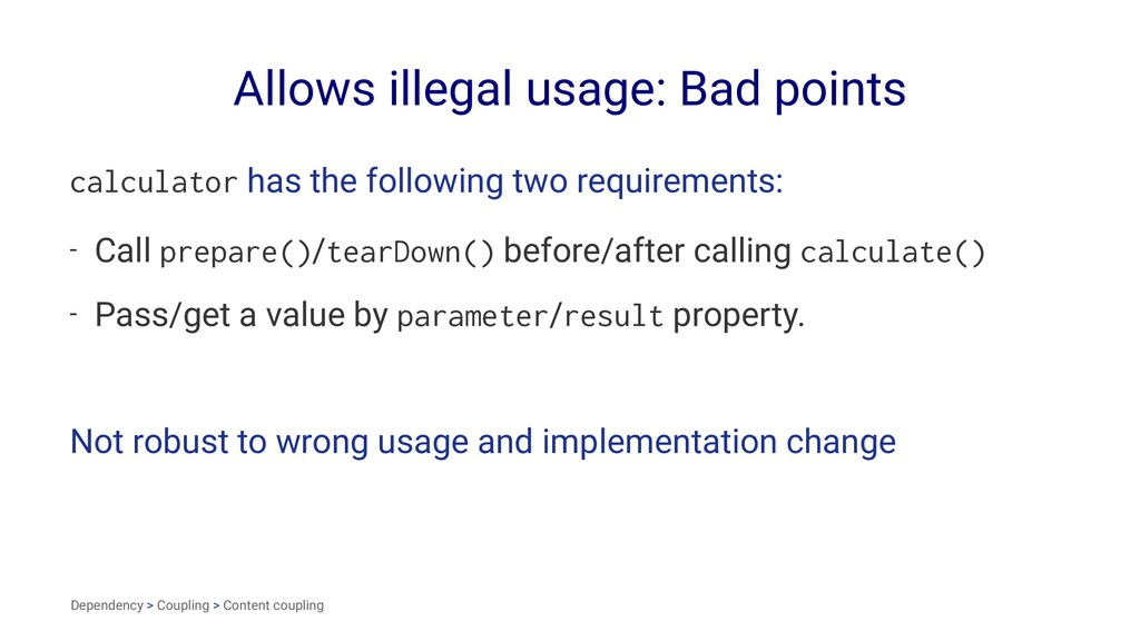 Allows illegal usage: Bad points calculator has...