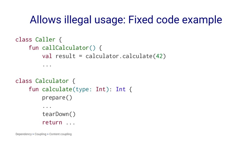 Allows illegal usage: Fixed code example class ...
