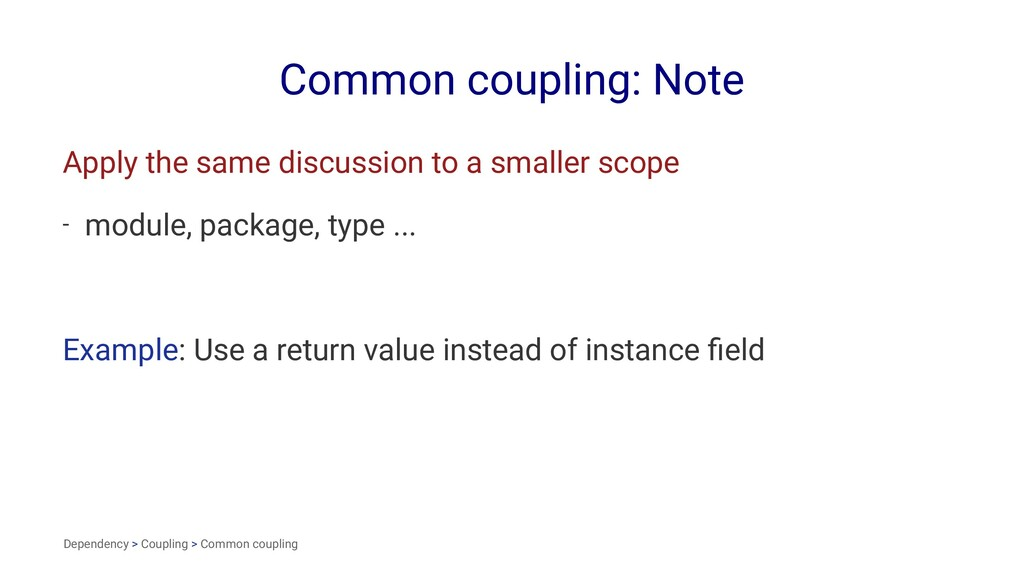 Common coupling: Note Apply the same discussion...