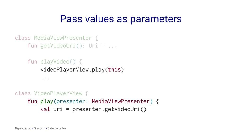 Pass values as parameters class MediaViewPresen...