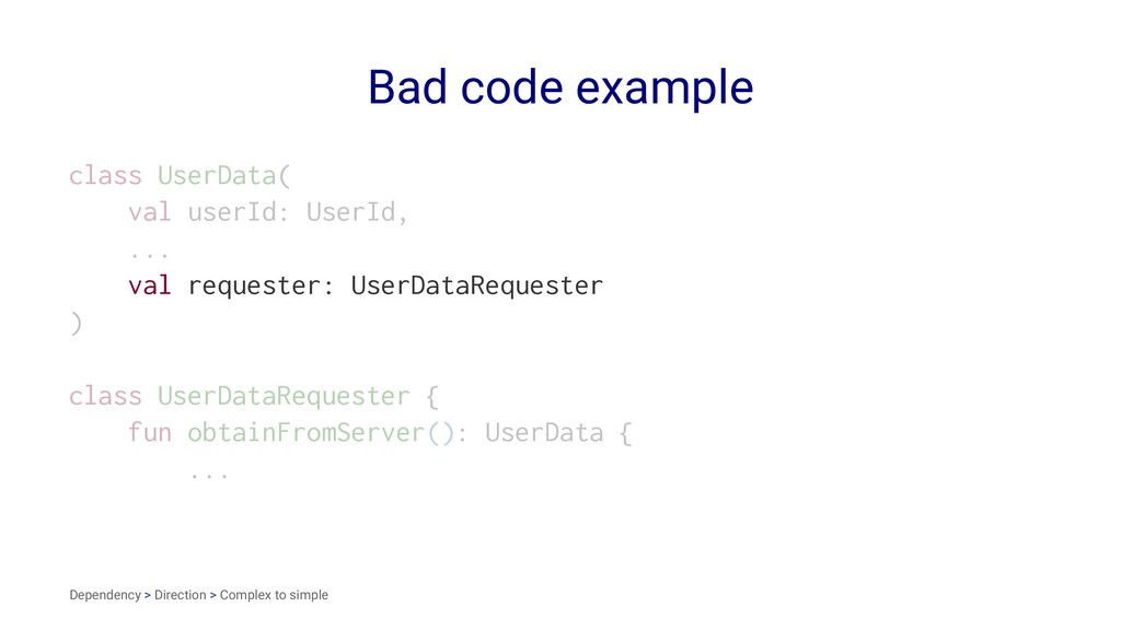 Bad code example class UserData( val userId: Us...
