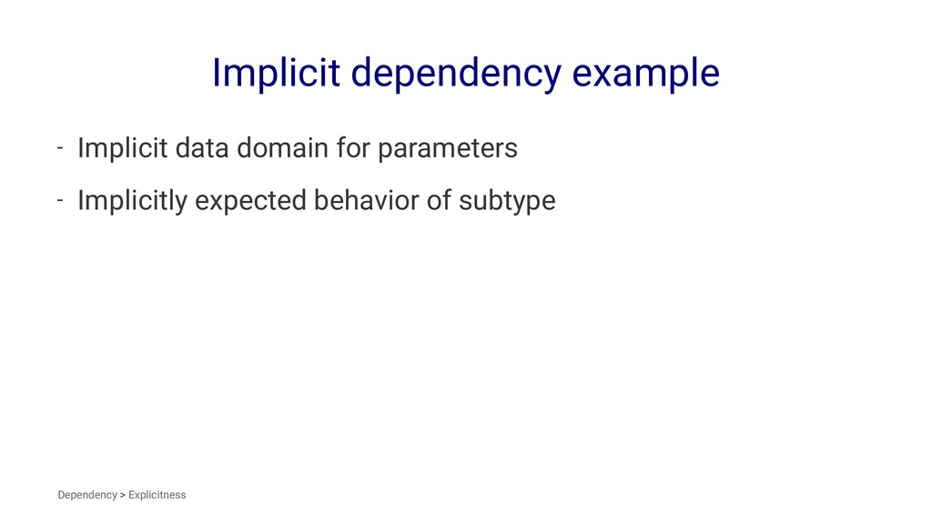 Implicit dependency example - Implicit data dom...