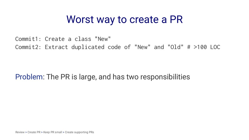 Worst way to create a PR Commit1: Create a clas...