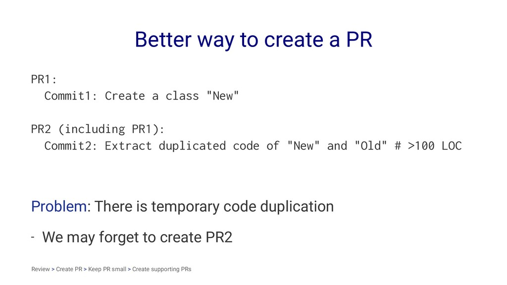 Better way to create a PR PR1: Commit1: Create ...