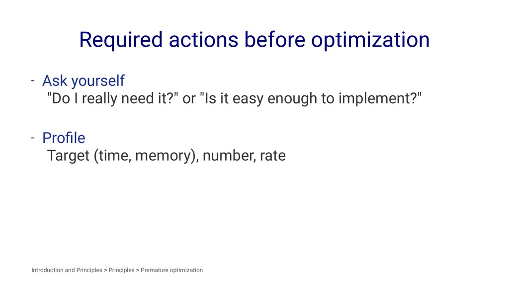 Required actions before optimization - Ask your...