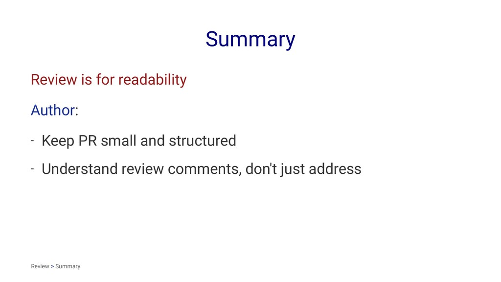 Summary Review is for readability Author: - Kee...