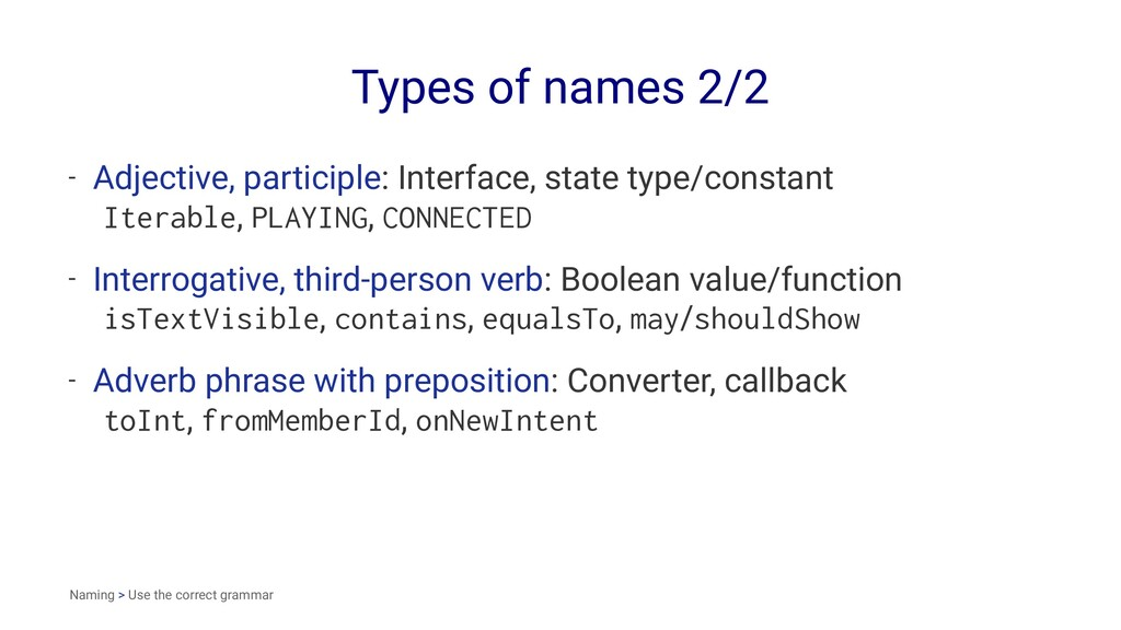 Types of names 2/2 - Adjective, participle: Int...
