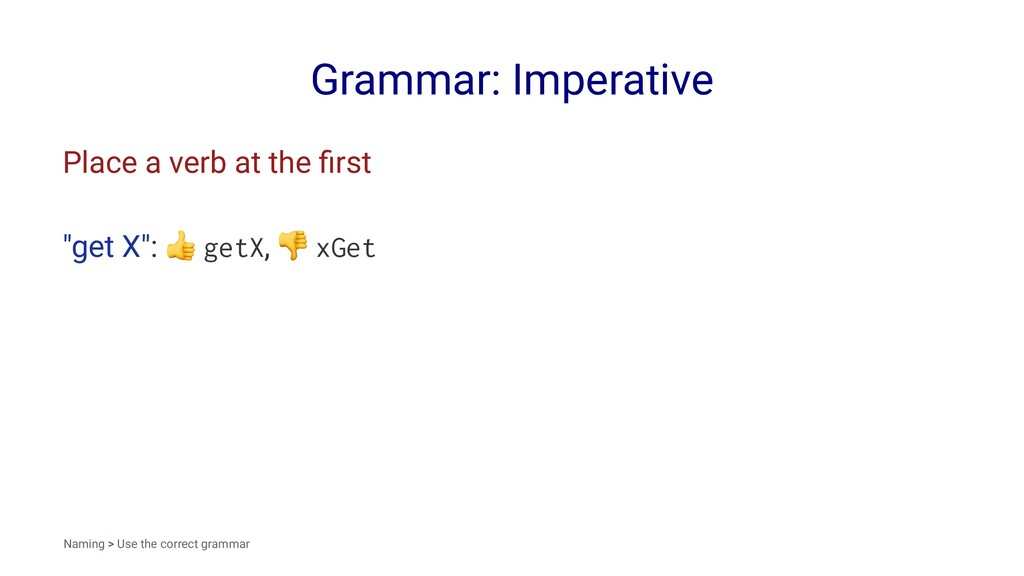 "Grammar: Imperative Place a verb at the first ""g..."