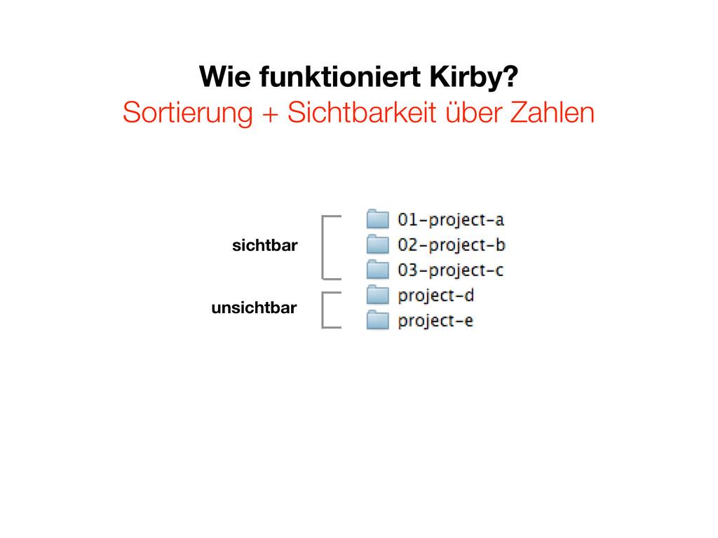 Wie funktioniert Kirby? Sortierung + Sichtbarke...
