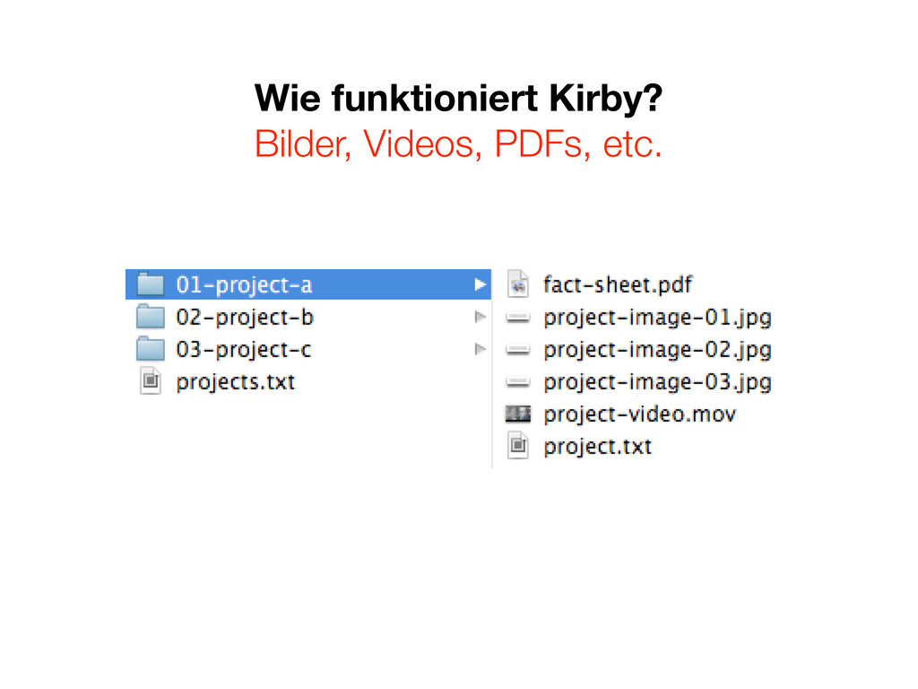 Wie funktioniert Kirby? Bilder, Videos, PDFs, e...