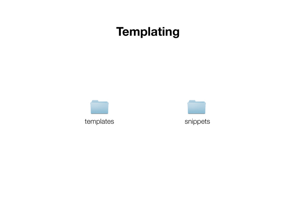 Templating templates snippets