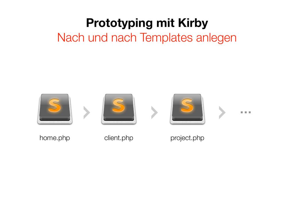 Prototyping mit Kirby Nach und nach Templates a...