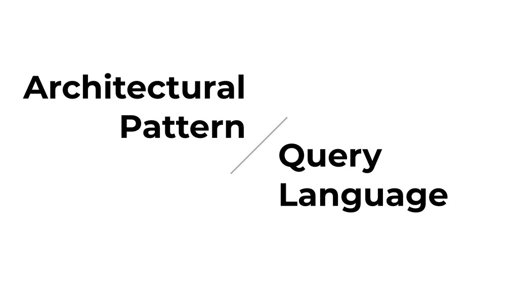 Architectural Pattern Query Language