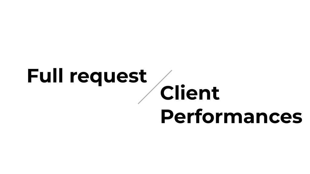 Full request Client Performances