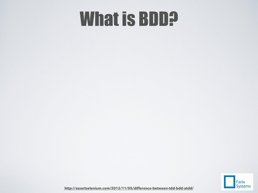 What is BDD? http://assertselenium.com/2012/11/...