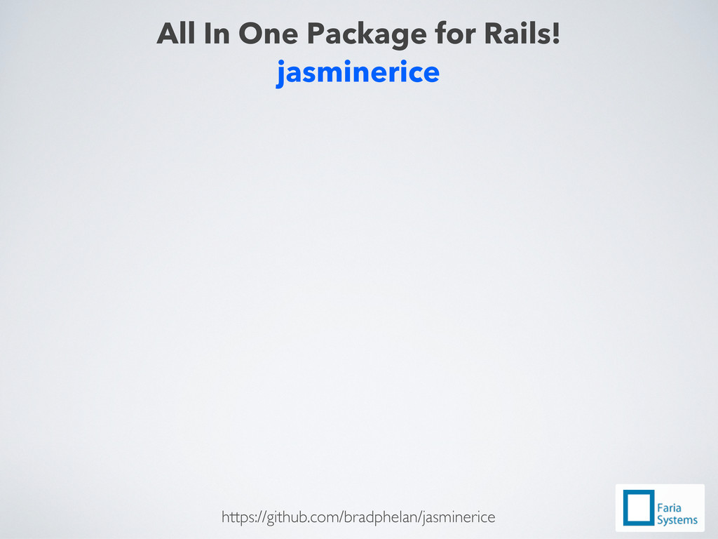 jasminerice All In One Package for Rails! https...