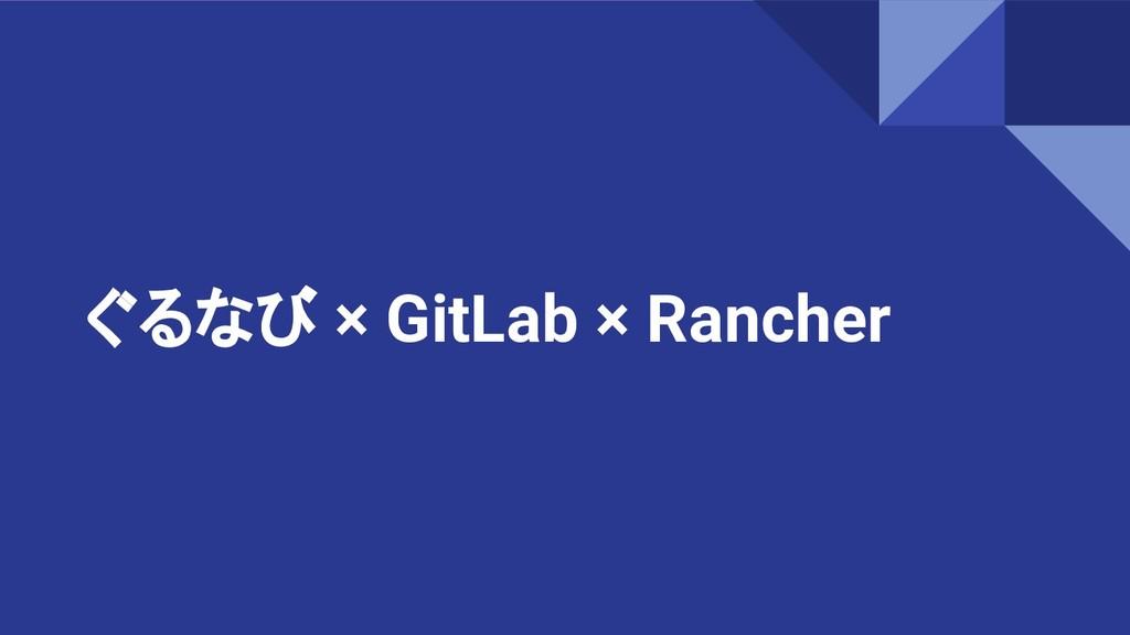ぐるなび × GitLab × Rancher