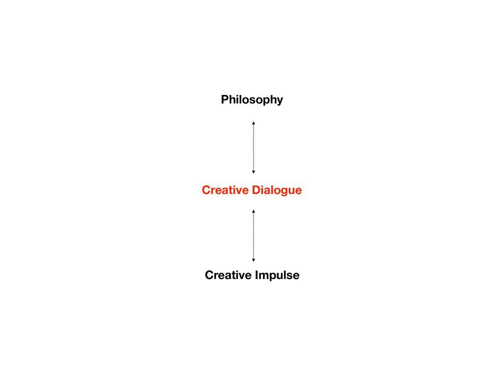Philosophy Creative Impulse Creative Dialogue