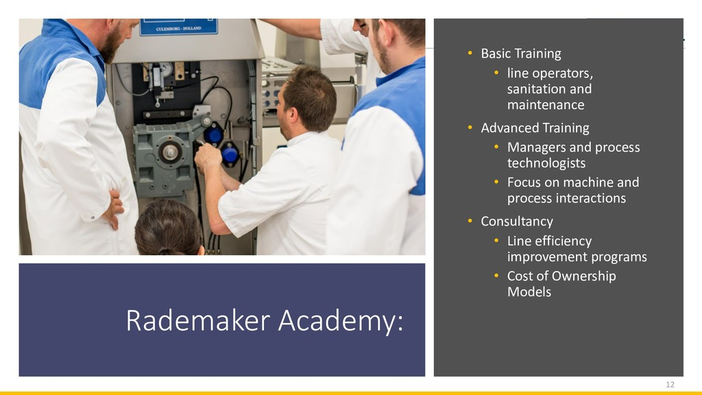Rademaker Academy: • Basic Training • line oper...
