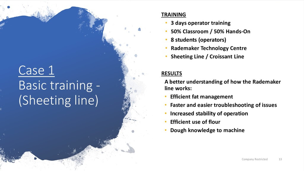 Case 1 Basic training - (Sheeting line) TRAININ...