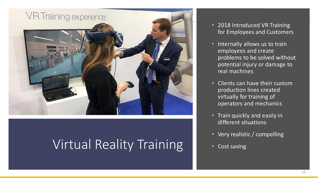 Virtual Reality Training • 2018 Introduced VR T...