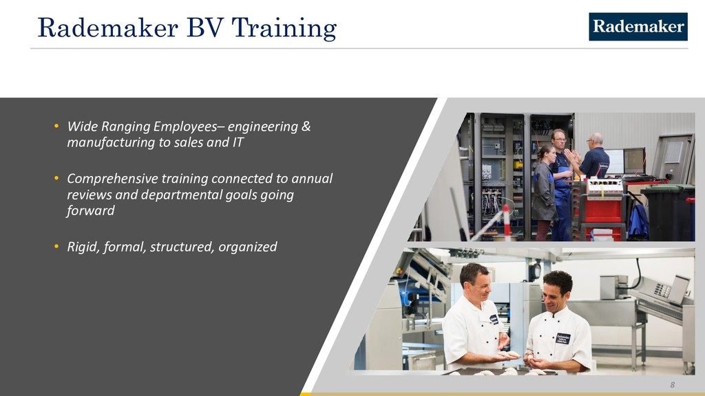 Rademaker BV Training • Wide Ranging Employees–...