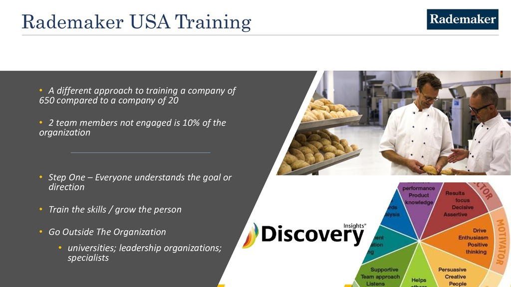 Rademaker USA Training • A different approach t...