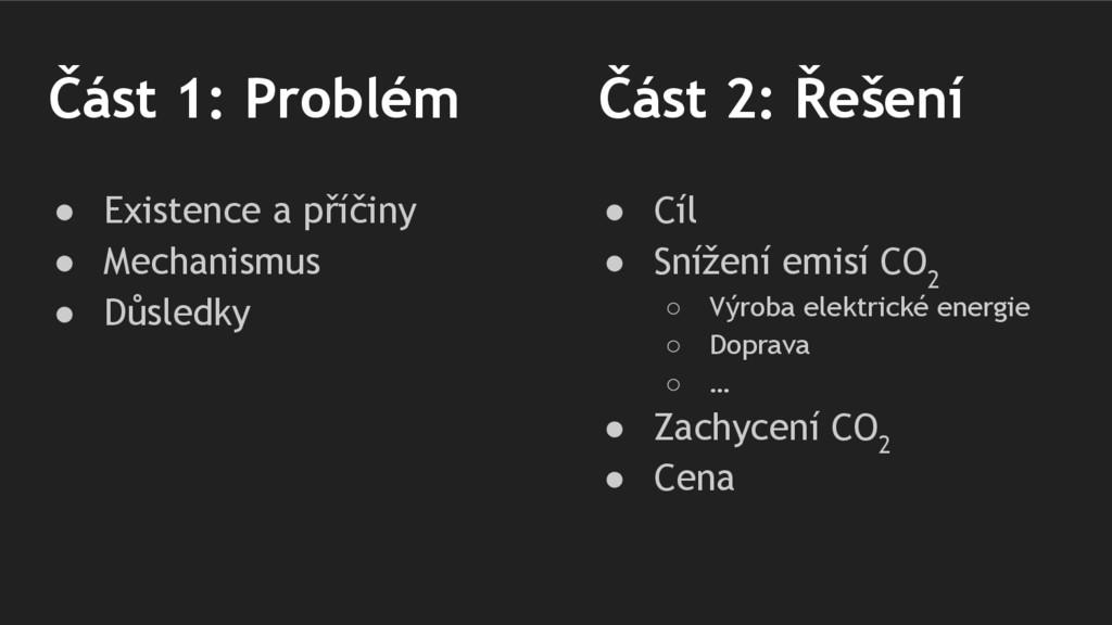 Část 1: Problém ● Existence a příčiny ● Mechani...
