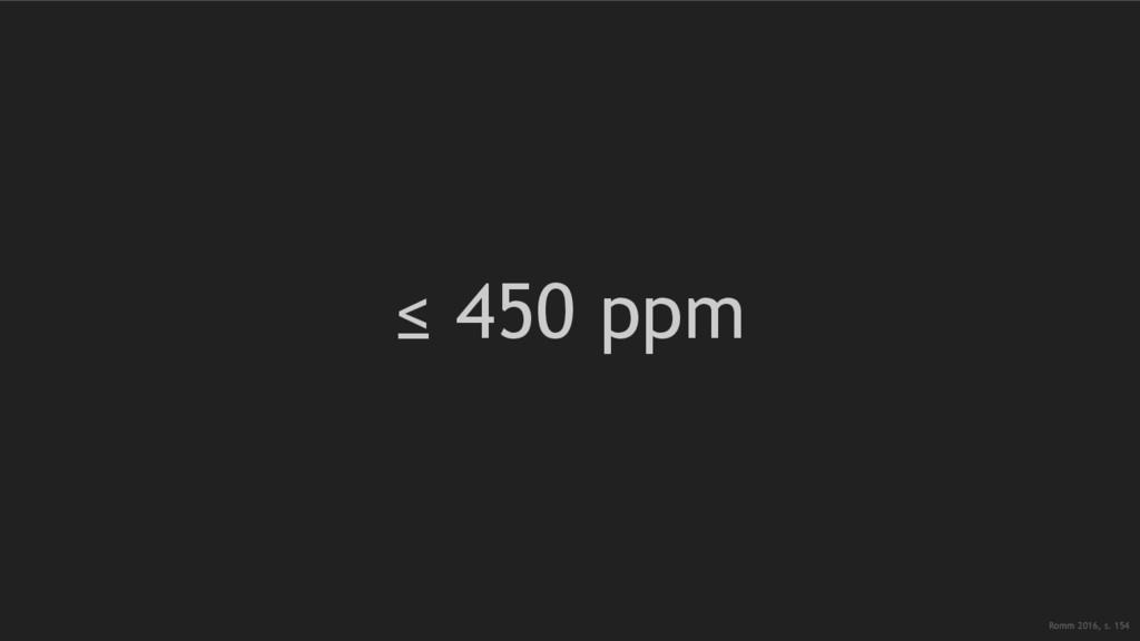 ≤ 450 ppm Romm 2016, s. 154