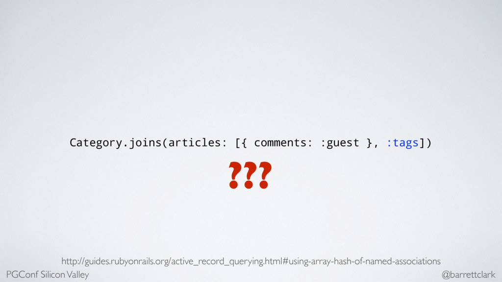Category.joins(articles: [{ comments: :guest },...