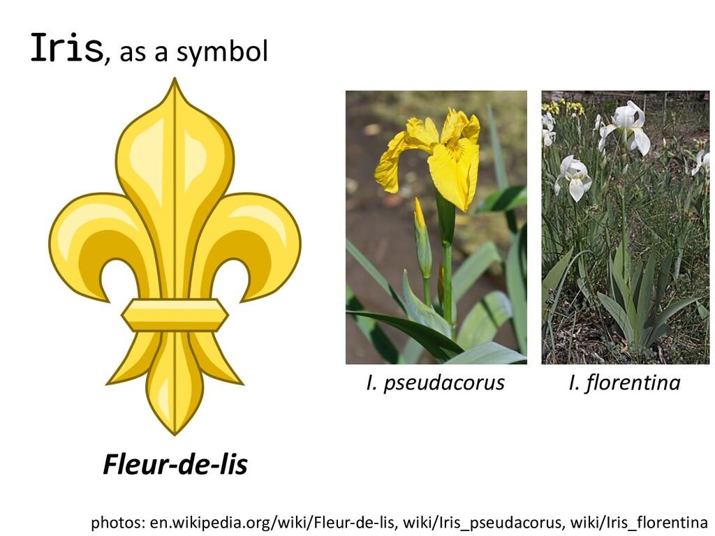 Iris, as a symbol Fleur-de-lis photos: en.wikip...