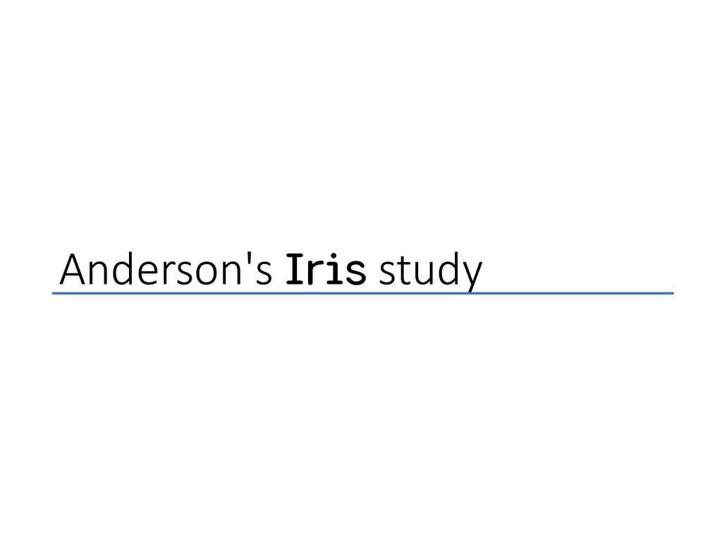 Anderson's Iris study