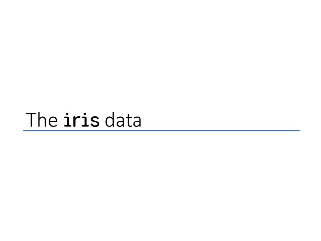 The iris data