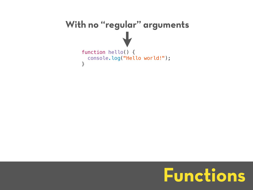 """Functions With no """"regular"""" arguments function ..."""