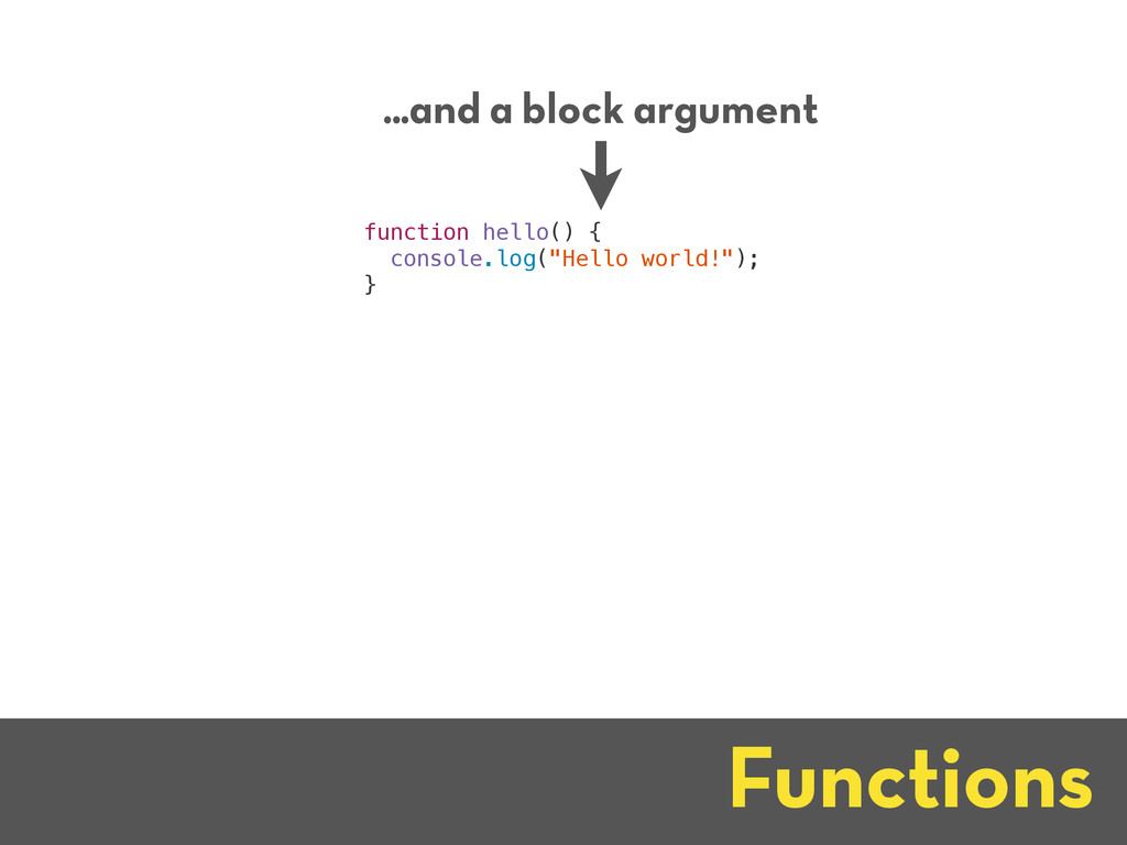 Functions ...and a block argument function hell...