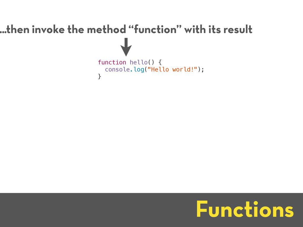 "Functions ...then invoke the method ""function"" ..."