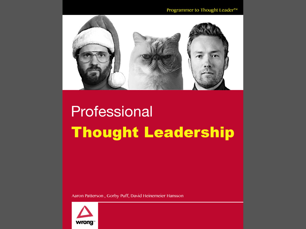 Programmer to Thought Leader™ Professional Thou...