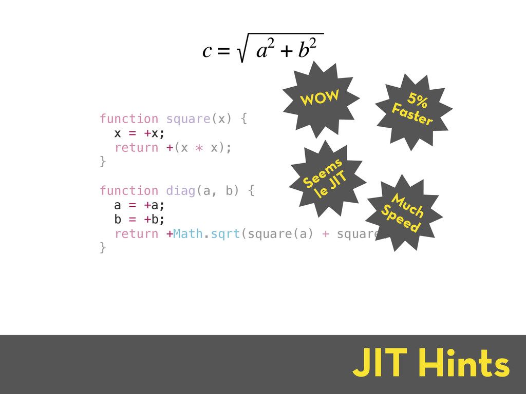 function square(x) { x = +x; return +(x * x); }...