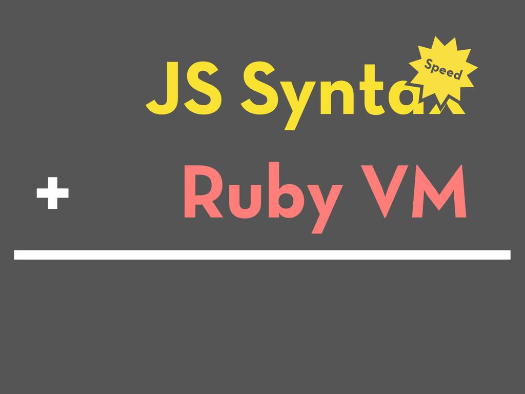 JS Syntax Speed Ruby VM +